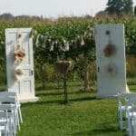 Ceremony-facing corn field 3-white doors