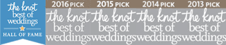 theKnot Best of Weddings Hall of Fame